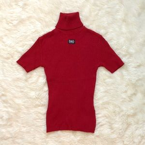 vintage dolce & gabbana turtleneck logo sweater